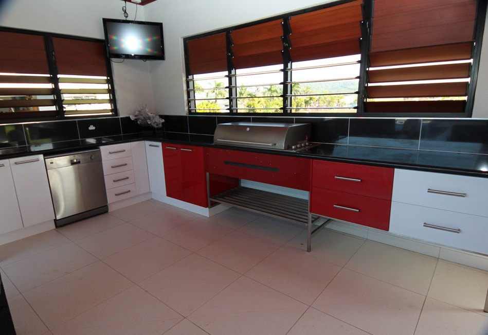 Outstanding Black Red Kitchen
